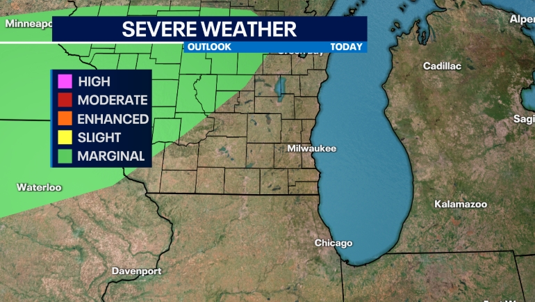 Severe weather outlook in the Midwest